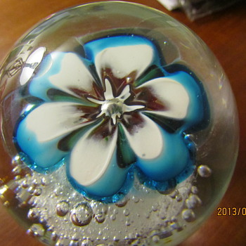Blue Flower Murano?  - Art Glass