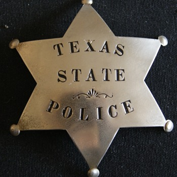From the Milan Italy Museum, Texas State Police Badge - Medals Pins and Badges