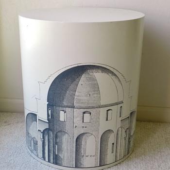 HELP! - Piero Fornasetti? 1950's Mid Century Cylindrical Stool - Mid-Century Modern
