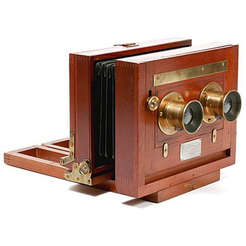 Anthony Champion Stereo (c.1888) with historically important 1872 lenses - Cameras