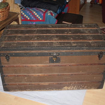 A few recent trunk finds....info needed about brown canvas on Goyard. - Furniture