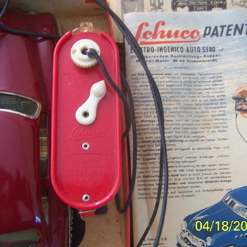My Vintage 5580SB Electro Ingenico Auto US Zone Germany, W/Box and Acc.  missing the hood ornament.