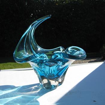 Chalet art glass bowl - Art Glass