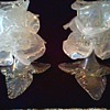 """Intricate """"Flora Form"""" Opalescent Murano Glass Candle Holders by """"Salviati""""/ Circa 20th Century"""