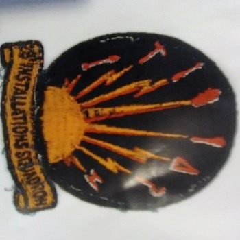 """Military patch 28""""Installation Squadron - Military and Wartime"""