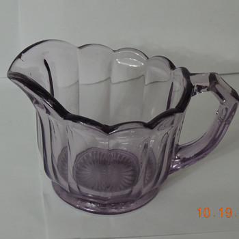 purple creamer - Glassware