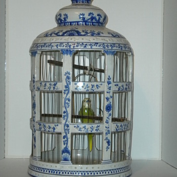 Large Ceramic Bird Cage - Pottery