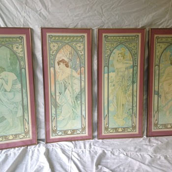 "Alphonse Mucha ""Times of the Day"" prints - Fine Art"