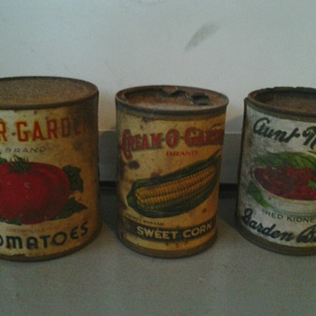 3 More Original Cans & Labels - Advertising