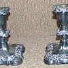 Poole Silver Candlestick Holders