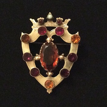 Victorian Silver Luckenbooth Brooch - Fine Jewelry