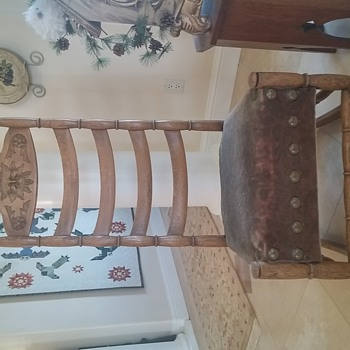 Antique Sewing Rocker w/Carved Face