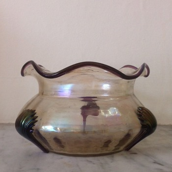 Kralik amethyst claw bowl - Art Glass