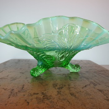 Three Footed Glass Bowl - Art Glass