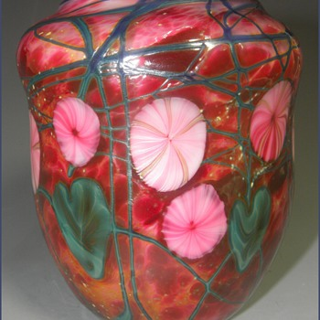 My Mom & A George Machart Art Glass Vase - Art Glass