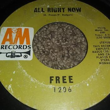 Free...On 45 RPM Vinyl - Records