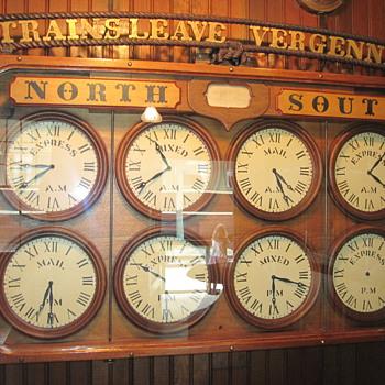 Inside Shelburne RR Station at the Excellent Shelburne Museum - Railroadiana