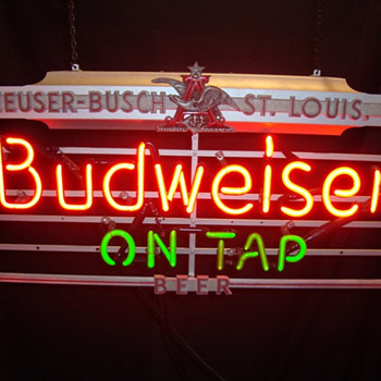 Bud On Tap Art Deco neon - Signs