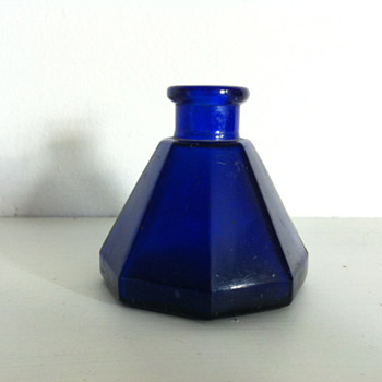 Cobalt blue umbrella ink bottle - Bottles