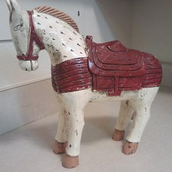 My wooden horse/pony - Folk Art