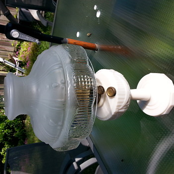Aladdin Model 23B Swag Milk Glass Oil Lamp - Lamps