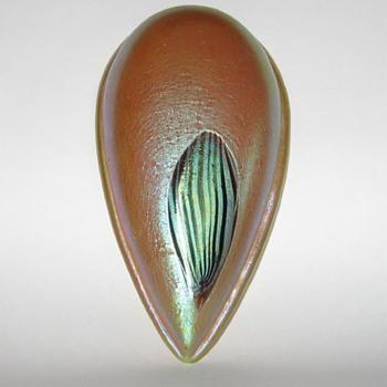 Loetz teardrop-shaped Leonidas architectural piece  - Art Nouveau