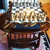 Chess set update:  New Information, and now Table, and Italian pieces Brass and Pewter