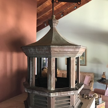 Vintage Copper Cupola with Car Weathervane - Petroliana