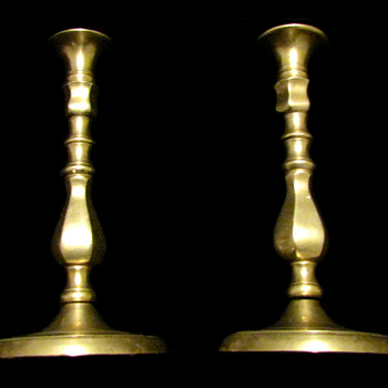 Candle Stick Holders ~Bronze~Gold Wash***VERY OLD***