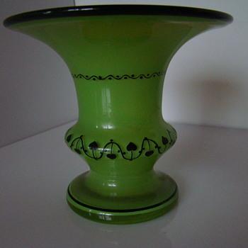 Bohemian Dagobert Peche/Michael Powolny style  vase - Art Glass