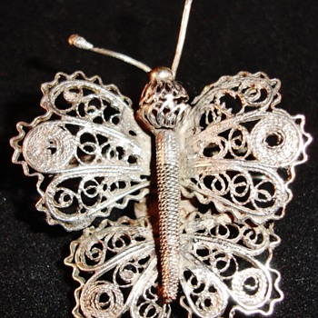 Silver filigree Butterfly - Fine Jewelry