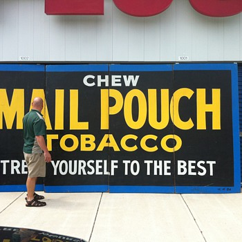 Giant Mail Pouch Tobacco sign (Harley Warrick) - Signs
