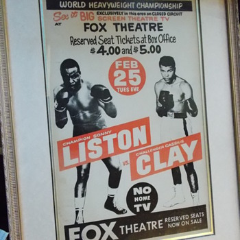 1964 Sonny Liston Cassius Clay poster