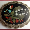 Colorful Pietra Dura pendant/brooch