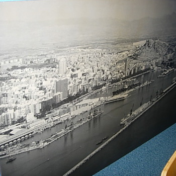 1950s aerial view of Alicante