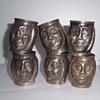 Vintage Metal Mini Trinket Character Head Cups With Handle