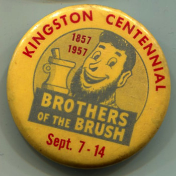 Kingston, PA Centennial 1957 Badge - Advertising