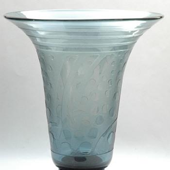 huge daum nancy art deco vase - Art Deco