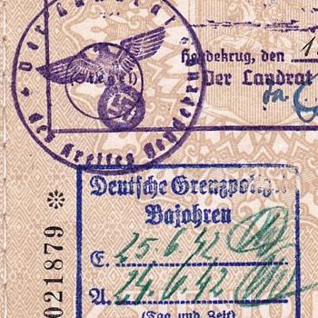 1940 Lithuanian MEMEL consular passport - Paper