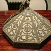 arts and crafts lamp shade eagle or falcon art nouveau