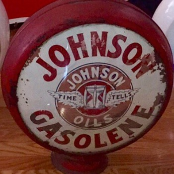 Johnson Oils Gasolene Globe - Petroliana