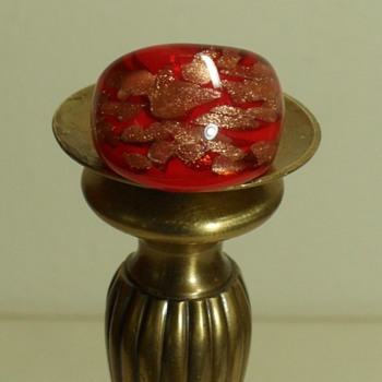 Red Glass Aventurine Ring