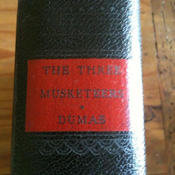 Three Musketeers Book Antique Dumas