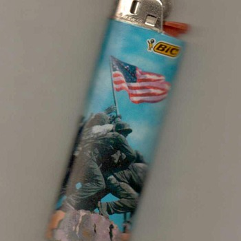 """Marine Corps War Memorial"" Bic Disposable Lighter - Tobacciana"