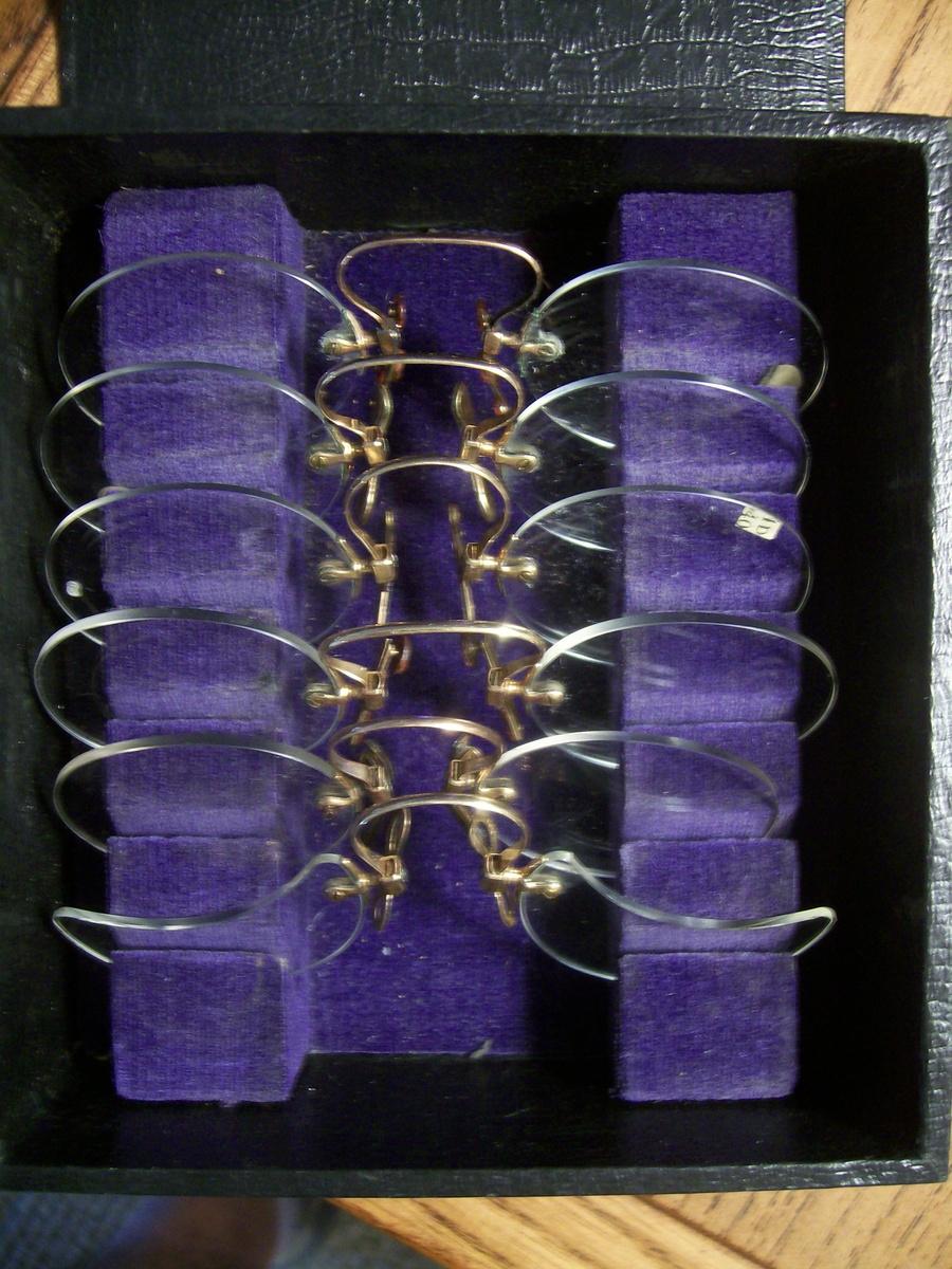 306437b73b8 Very Old Eyeglasses Salesmans Samples w  Case