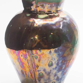 Mystery 19thc? iridescent pottery. BACS? - Pottery