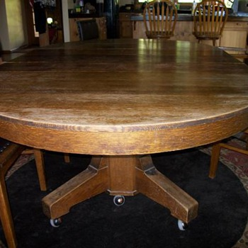 Mission Oak Dining Set - Furniture