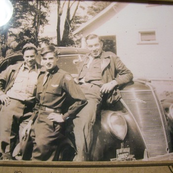 MY DAD AND TWO ARMY BUDDIES ON LEAVE--37 Ford - Military and Wartime