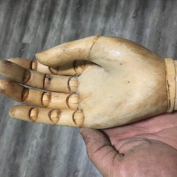 1960s Wooden Prosthetic Right Hand