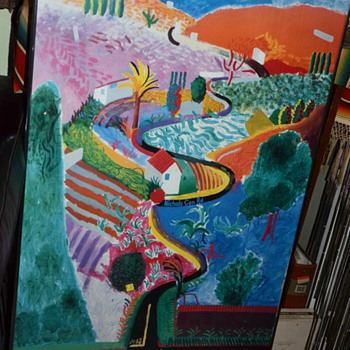 "David Hockney A Retrospective Nichols Canyon Road 1988 Art Poster Print 39"" x 24"""